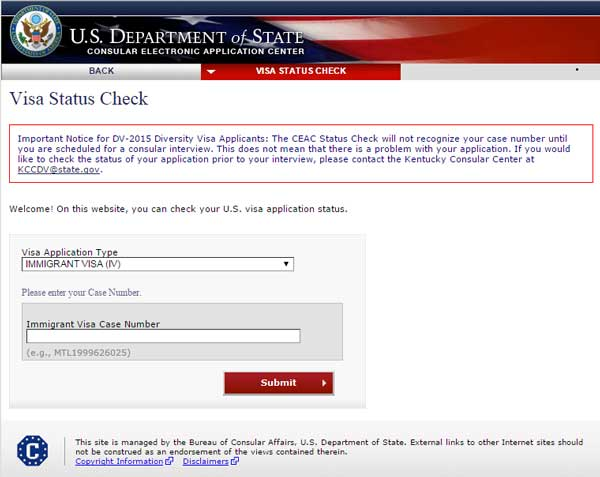 Check Visa Status - Now through email
