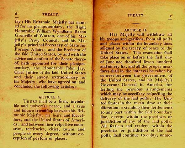 Jay Treaty Green Cards American Indian Green Cards