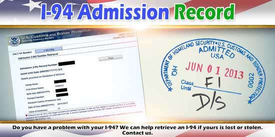I-94 Admission Record