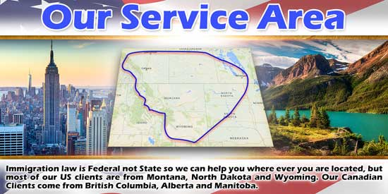 Immigration Law of Montana, P.C. Service Area